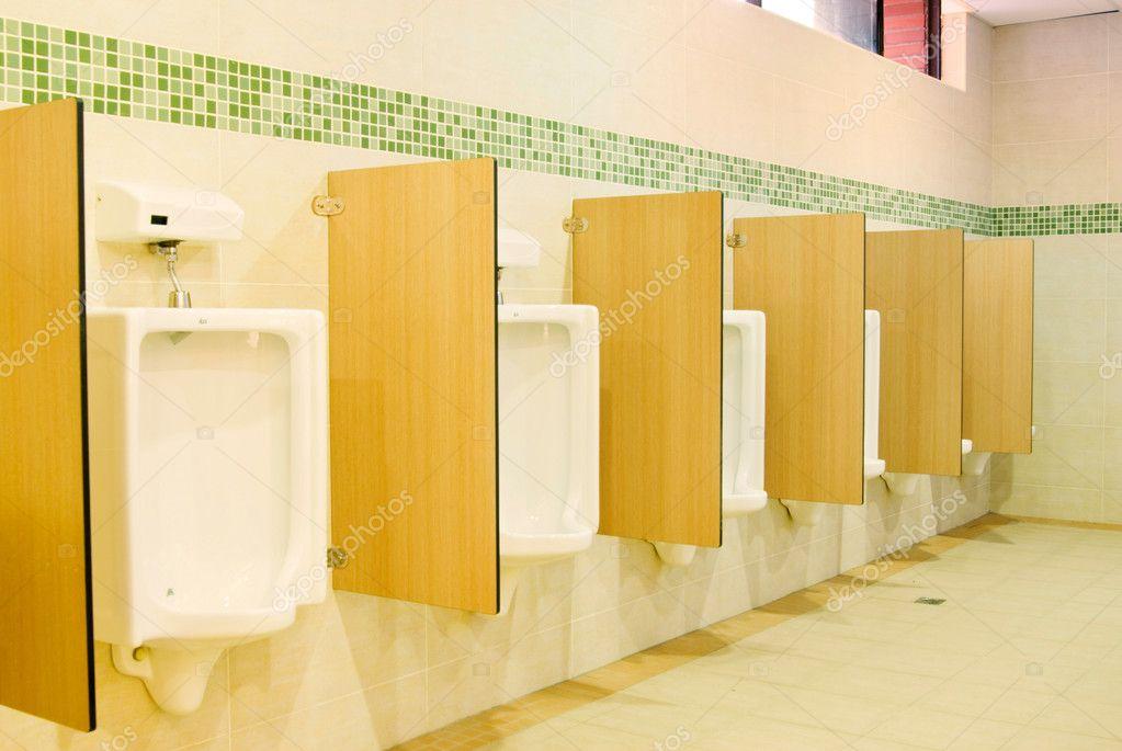 Moderne toilet interieur met urinoir rij stockfoto ansonde 4005400 - Moderne toiletfotos ...