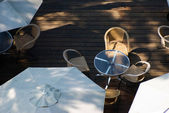 Plein air table basse en bois motif — Photo