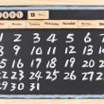 Hand drawing 2011 May calendar — Stock Photo