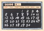 Hand drawing 2011 June calendar — Stock Photo