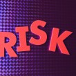 Risk word on blue neon background — Stock Photo