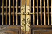 Vecchio porta cinese tradizionale — Foto Stock
