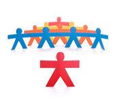领导小组的领导带领的概念, — 图库照片