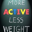 More active less weight — Foto Stock #5191181