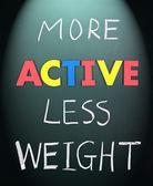 積極的な少ない重量 — ストック写真