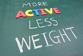 Menos peso mais ativo — Fotografia Stock