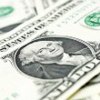 Closer look at dollar bills — Stock Photo