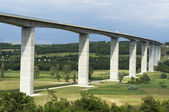 Viaduct leads beneath the valley — Stock Photo
