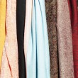 Stock Photo: Colored scarfs