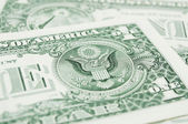 Closer look at dollar bills — Stock Photo