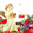 Stock Photo: Christmas still life with angel