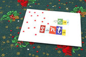 Letter to Santa from a child — Stock Photo