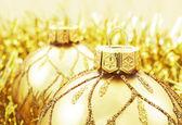 Golden Christmas decoration — Stock Photo