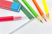 školní vybavení — Stock fotografie