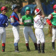 Stock Photo: The Jockeys waiting for his ride.