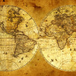 Old paper world map. — Stockfoto #4067545