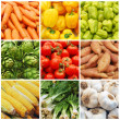 Vegetable collage — Stock Photo