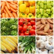 Vegetable collage - Stock Photo