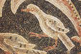 Bliska fragmentu zabytkowej mozaiki — Zdjęcie stockowe