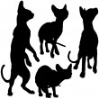 Silhouettes of cats — Stock Vector #4822144