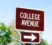 College Avenue sign — Stock Photo