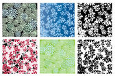 Floral textures set — Stock Vector