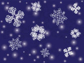 クリスマスと新年の背景 — ストックベクタ