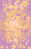 Tarjeta de flores — Vector de stock