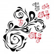 Vector de stock : Decorative floral element