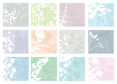 Set of floral invitation — Stockvector