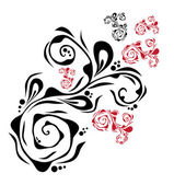 Floral dekorationselement — Stockvektor