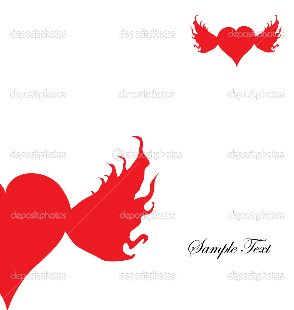 Valentine's day card with flying hearts and space for text  Stock Vector #4840980