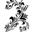 Stock vektor: Decorative floral element