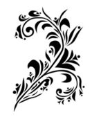 Elemento decorativo floral — Vector de stock