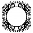 Stock Vector: Tribal ornament frame