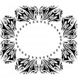 Tribal ornament frame — Stock Vector