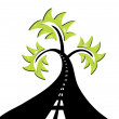 Vector de stock : Abstract road tree