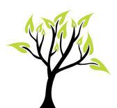 Abstrait arbre vert — Vecteur