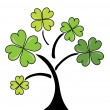 Stock Vector: Clover tree