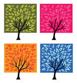 Four season trees — Stock Vector
