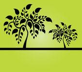árvores abstratas — Vetorial Stock
