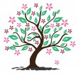 Vector de stock : Abstract floral tree