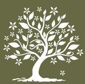 árbol de flores abstracta — Vector de stock