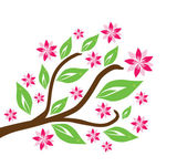Floral branch — Stock Vector