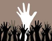 人类的手 — 图库矢量图片