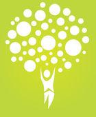 Abstract human tree — Stock Vector