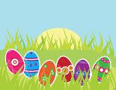 Easter eggs — Stock Vector