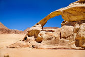 Rock bridge in Wadi Rum desert, Jordan — Stock Photo