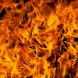 Closeup of fire flames — Stock Photo