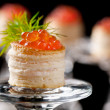 Tartlets with red caviar — Stock Photo #5194396